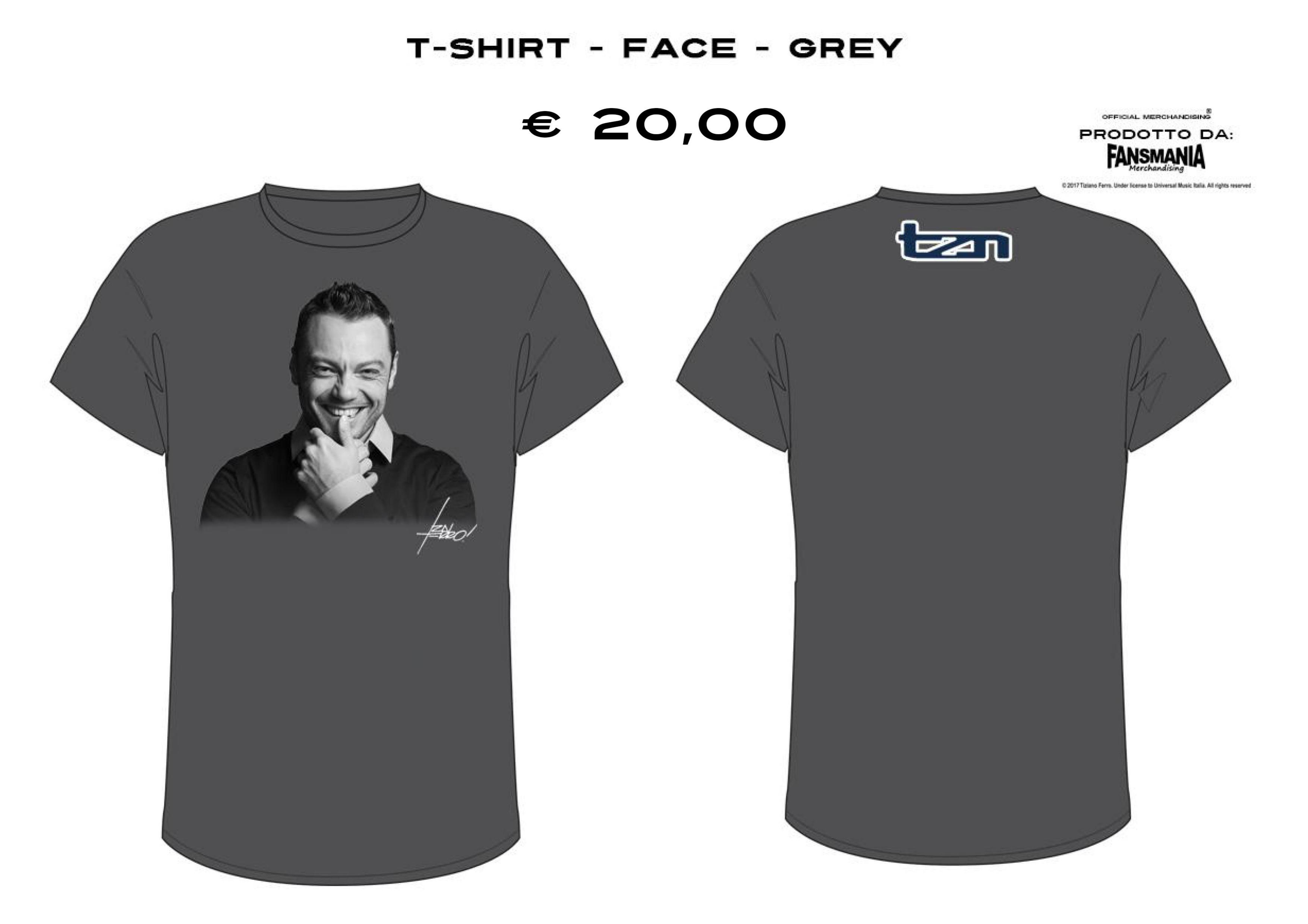 T-SHIRT - FACE - GREY