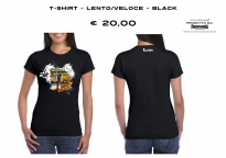 T-SHIRT - LENTO/VELOCE - BLACK - WOMAN